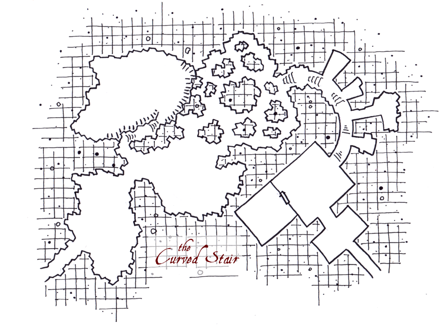 Curved Stair Dungeon Map