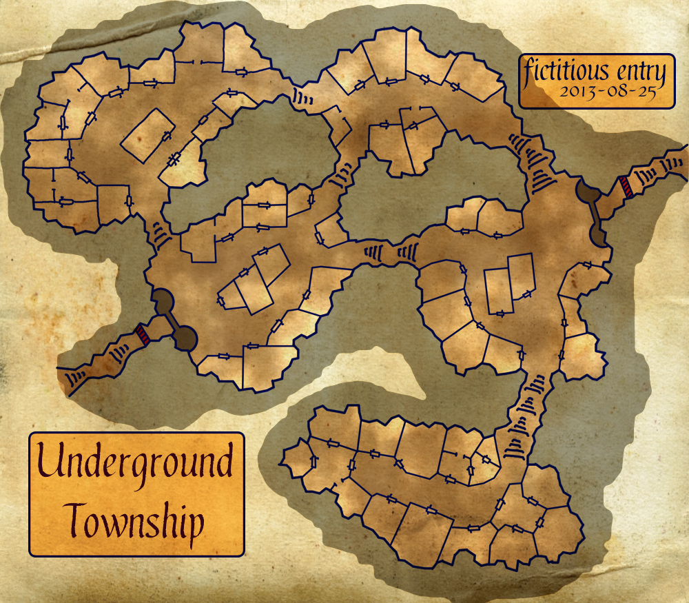 Dungeon Town Map